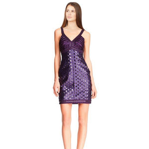 Sue Wong Sequined Beaded Dress PURPLE 8 #169